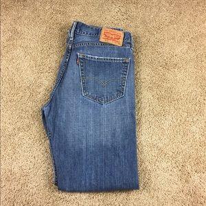 Men's Levi's 505 blue jeans 32 waist